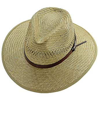 e2be226588c33 ... Strohhut Sommerhut Sonnenhut Modehut Cowboyhut Panamahut Gärtnerhut Hut  mit Ziergürtel für Männer (FI-16405-S17-HE1) inkl Hutfibel  Amazon.de  ...