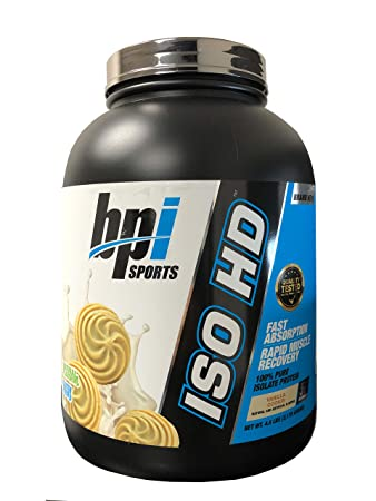 BPI Sports ISO HD New Improved 100 Pure Isolate Protein Vanilla Cookie, 4.8 Pound