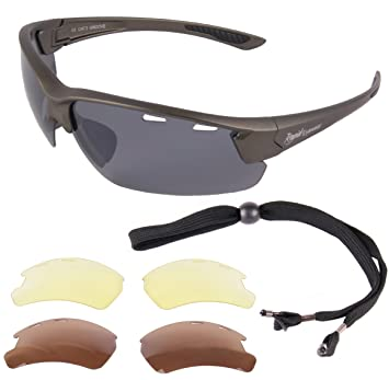 3015fa0c54 Rapid Eyewear Groove Mens   Womens Silver Grey UV400 POLARIZED SUNGLASSES  FOR SPORT With Interchangeable Anti