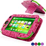LeapFrog LeapPad Platinum Case, ACdream LeapFrog Leap Pad Platinum Tablet Leather Case Multi Function Cover With Stand (only Fit 2015 Release LeapPad Platinum Tablet) , Hot Pink Pattern