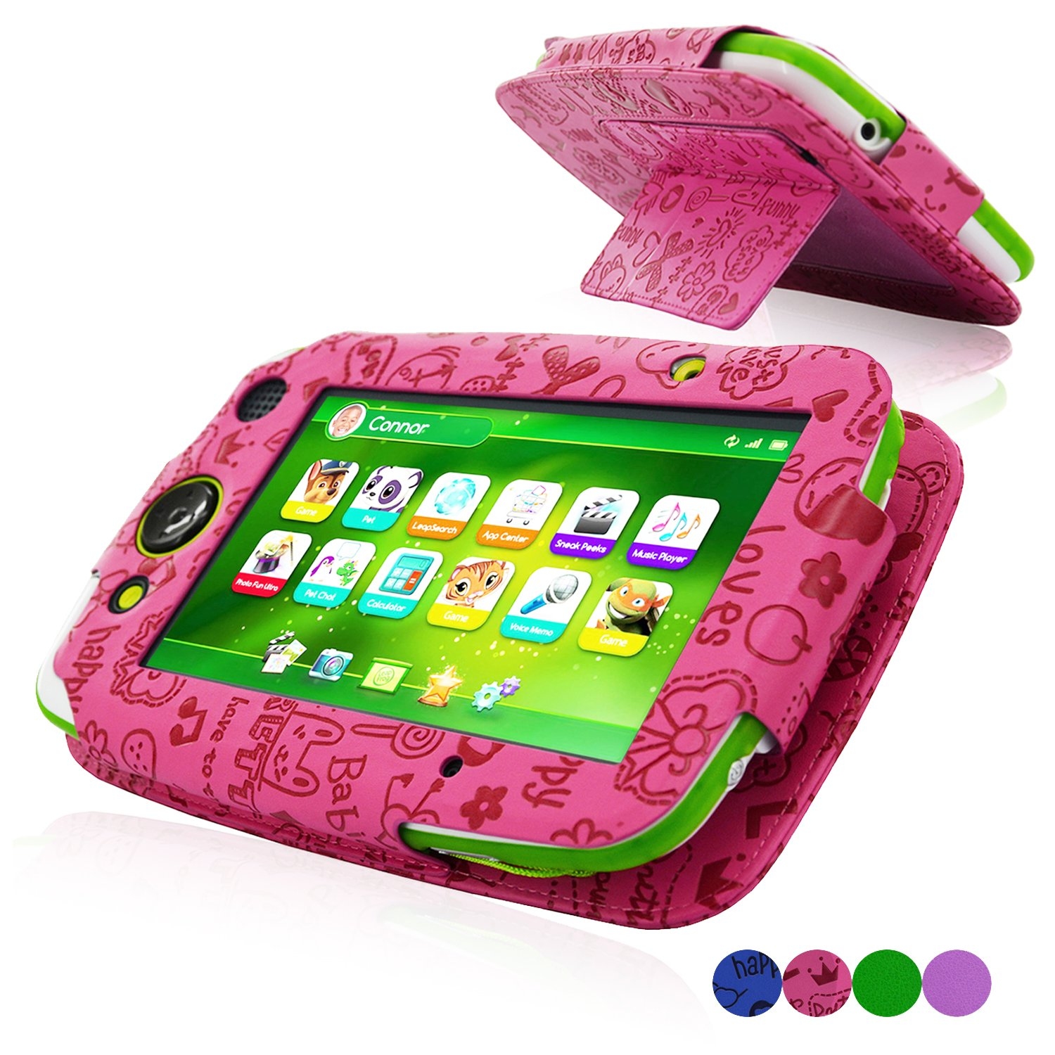 ACdream LeapPad Platinum Case, High Quality PU Leather Cover Case for LeapFrog LeapPad Platinum Kids Learning Tablet (NOT FIT LeapPad3) , Purple BC27077