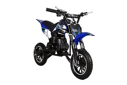 Amazon com: Dirt Bike Blue Mini Motor Gas Powered 49CC EPA