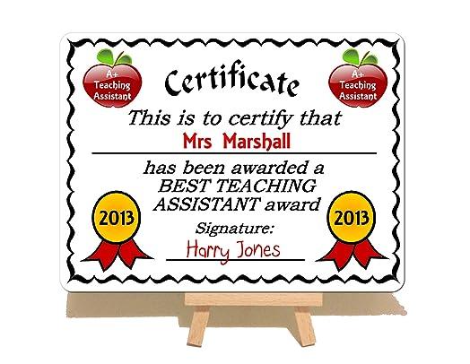best teacher award certificate