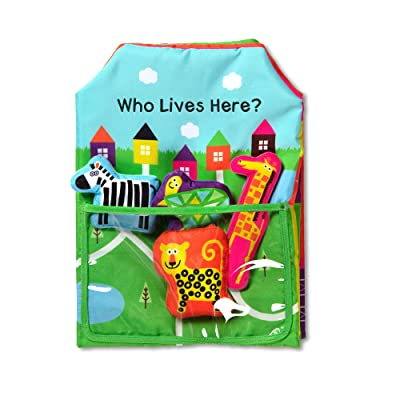 Melissa & Doug K's Kids Who Lives Here 8-Page Soft Book, The Original (5 Pieces, Great Gift for Girls and Boys - Best for Babies and Toddlers, All Ages): Toys & Games