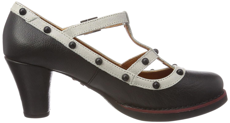 1076A Memphis St.Tropez, Zapatos de Tacón con Punta Cerrada para Mujer, Negro (Black), 38 EU Art
