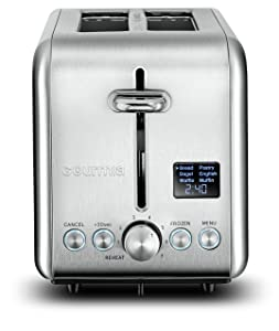 Gourmia GDT2445 - Multi-Function Digital Toaster with 5 Toast Functions, 7 Shade Settings, Rapid Reheat Mode and Extra Wide Slots