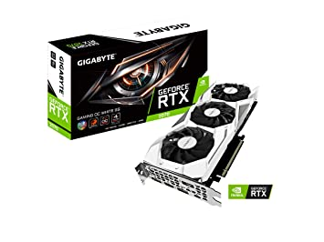 Gigabyte Ge Force Rtx 2070 Gaming Oc White 8 G Ggdr6 Display Port 1.4 Hdmi 2.0b Usb Type C Triple Fan Design  Gv N2070 Gamingoc White 8 Gc by Gigabyte
