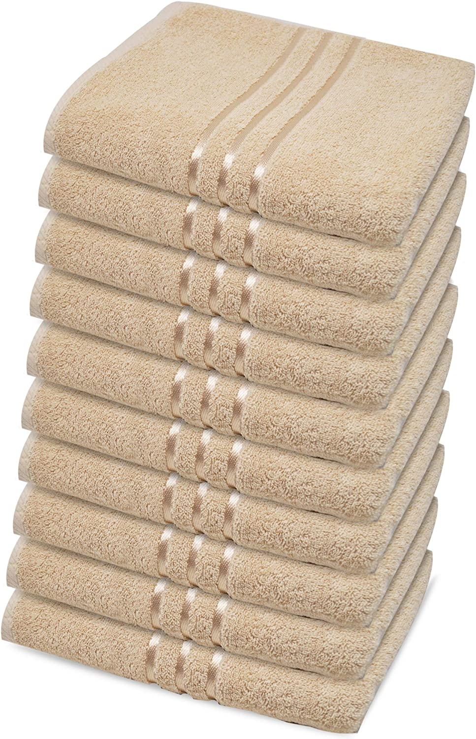 Hand White, Pack of 4 Face Gym and Spa 50x81cm Towelogy/® 100/% Egyptian Cotton Hand Towel Set 500 GSM Ultra-Soft and Absorbent Multipurpose Use for Bath