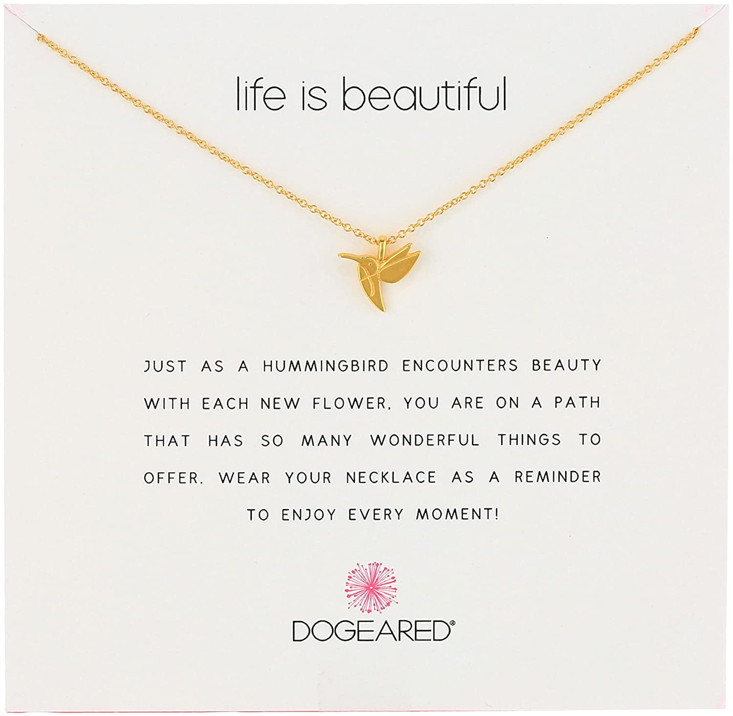 Dogeared Sterling Silver Life Is Beautiful Reminder Necklace, 18 18 Dog Eared (Jewelry) MS1465