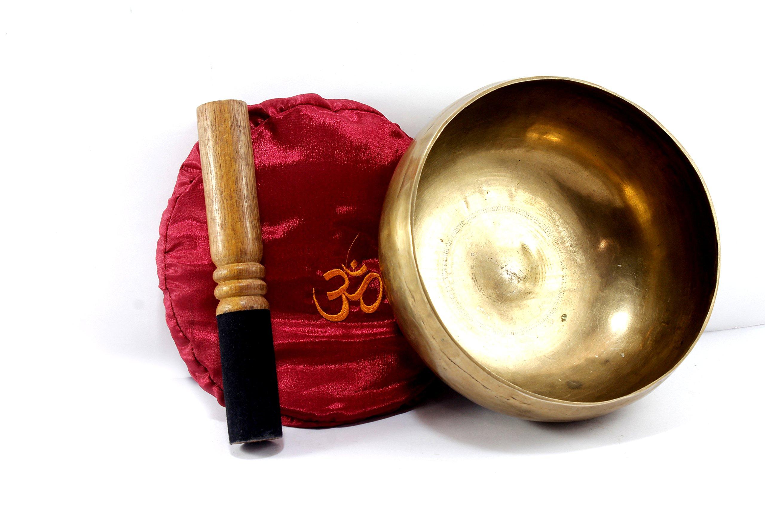 Tibetan Singing Bowl Set - 4th Chakra F (7.5 Inch)