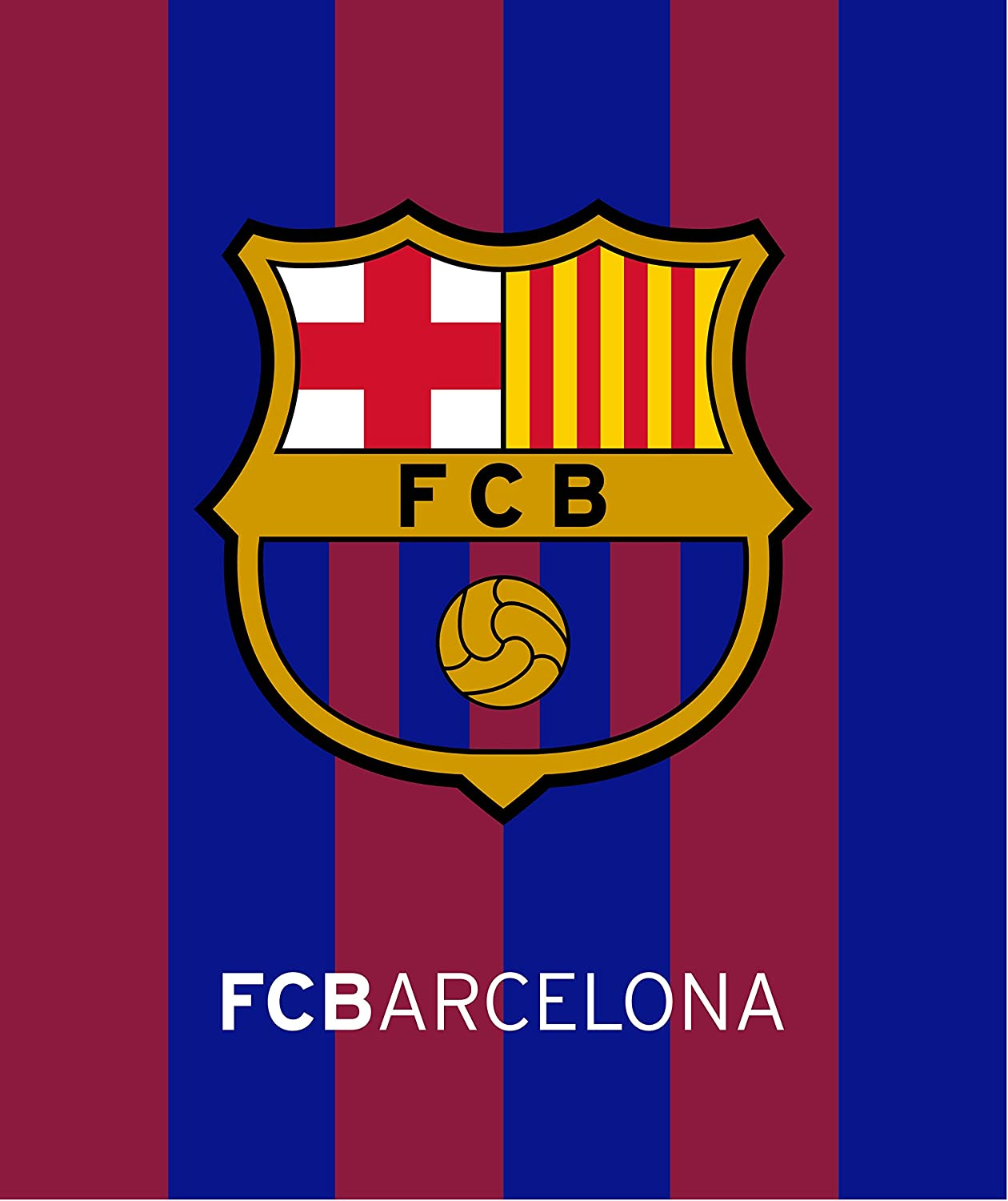 FCB Barcelona Soccer Team Beach Towel Four Players