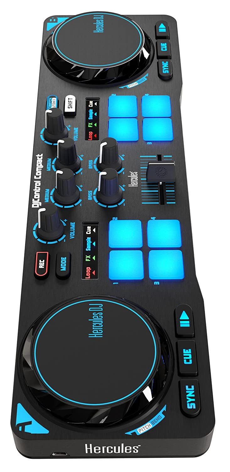 Amazon.com: Hercules DJControl Compact super-mobile USB Controller ...