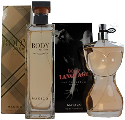 Set de Perfume Francés 100ml Body Stripes by Magico para Mujer. + Perfume Francés 90ml