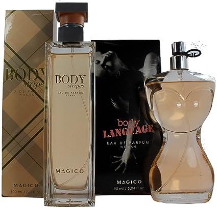Set de Perfume Francés 100ml Body Stripes by Magico para Mujer. + Perfume Francés 90ml
