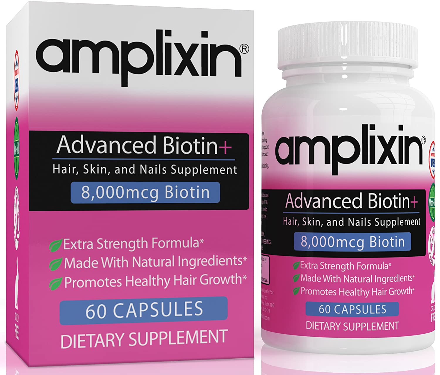Amazoncom  Amplixin Advanced Biotin Plus Supplement For Hair - How much biotin to take for hair growth
