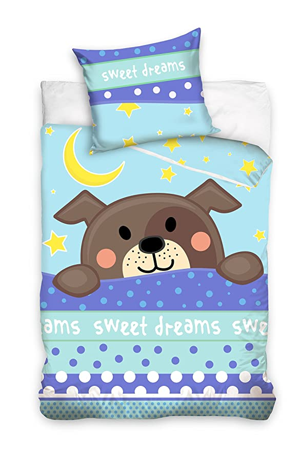 Baby Bow 163002 Childrens Bed Linen 100 x 135 cm Puppy