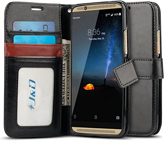 Amazon Com J D Case Compatible For Zte Axon 7 Case Wallet Stand Slim Fit Heavy Duty Protective Shock Resistant Flip Cover Wallet Case For Zte Axon 7 Wallet Case Not For Zte Axon