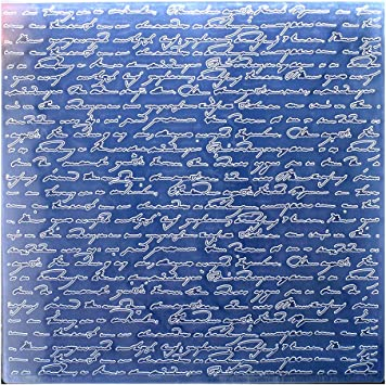 19.8x19.8cm Kwan Crafts Large Size Letters Plastic Embossing Folders for Card Making Scrapbooking and Other Paper Crafts