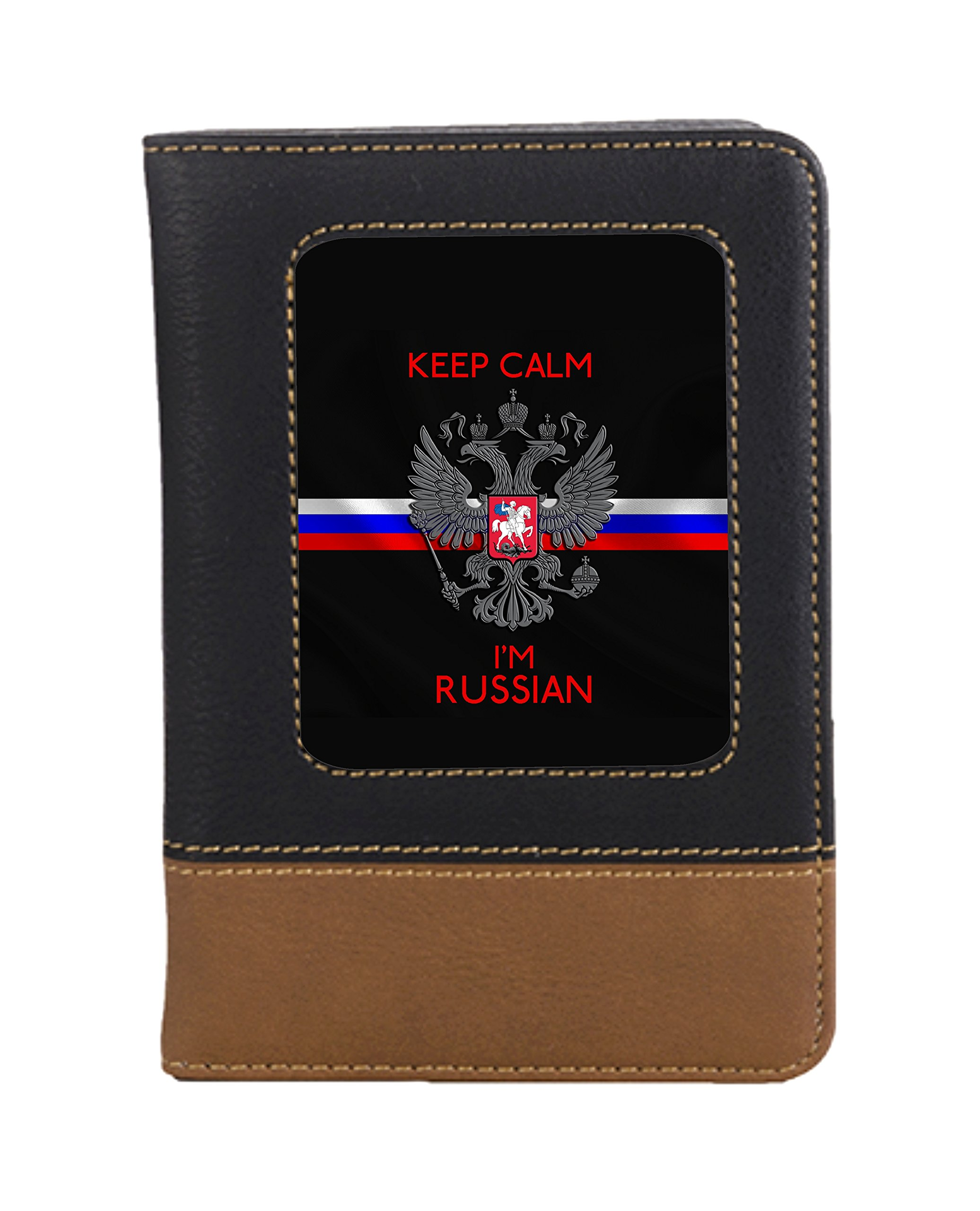 Russian Leatherette Travel Passport Wallet Case Cover with Card Slots