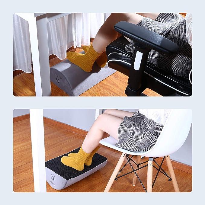 Tdbest Fußstütze Schreibtisch Fußauflage Ergonomisch 13cm Höhe Komfort Schaum Kissen tragbar Rutschfest entlasten Knieschmerzen Wunde Füße für Office Home Travel