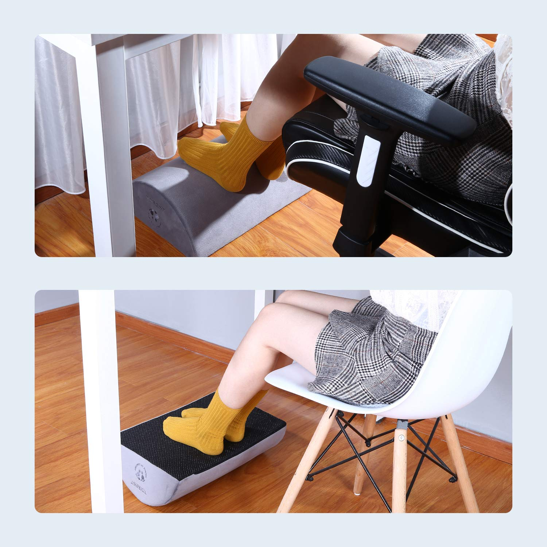 Foot Rest Cushion Under Desk, Tdbest Ergonomic Desk Footrest 5.12\