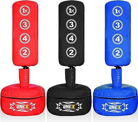OneX Kids//Junior Boxing Punch bag Heavy Duty Filled 4Ft Blue Bag+Gloves+Bracket