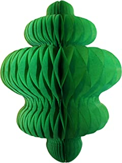 product image for 3-Pack 10 Inch Honeycomb Tissue Paper Hanging Chandelier Decoration (Light Green)