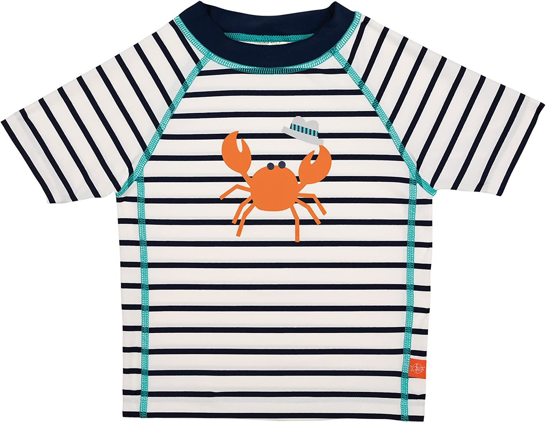 L/ässig T-Shirt /à Manches Courtes pour Gar/çon Marin Bleu 6 Mois