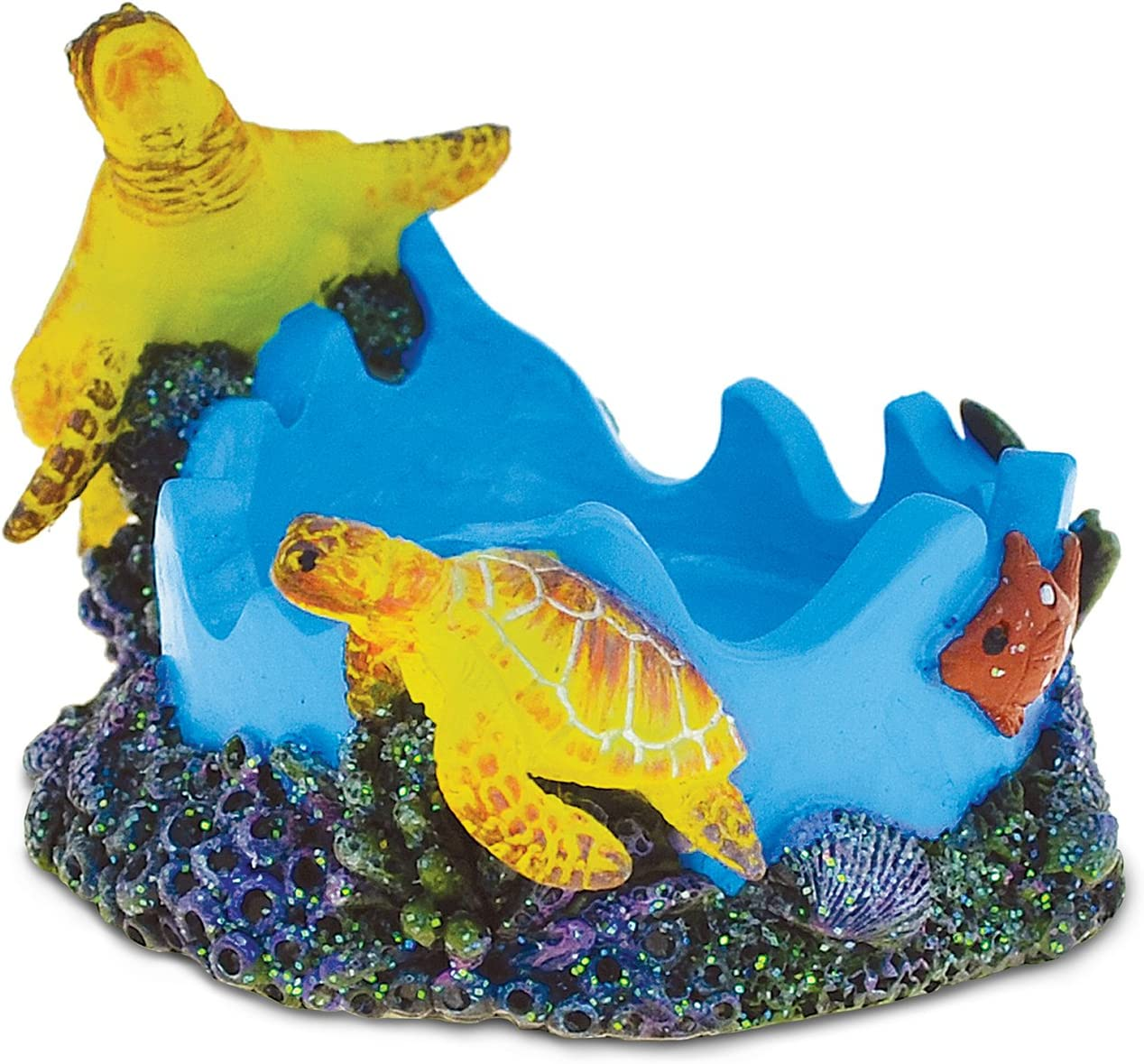 COTA Global Nautical Sea Turtles Candle Holder Sculpture Intricate Art Resin Figurine Ocean & Sea Life Theme Décor Handcrafted Hand Painted Collectible Figure Home Accent Unique Gift Souvenir
