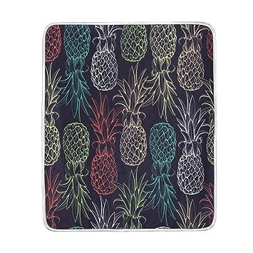 Amazon.com: ALAZA Home Decor Tropical Piña Fruta Manta ...