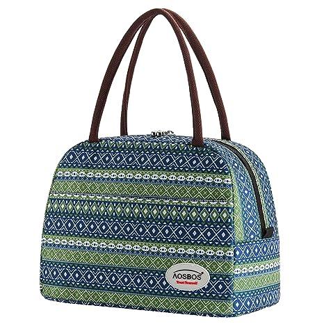 Amazon.com: Aosbos - Bolsas de almuerzo para mujer, Casual ...