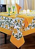 Swayam Libra Printed Cotton Six Seater Table Sheet - Yellow (RDS16-60x90-3701)