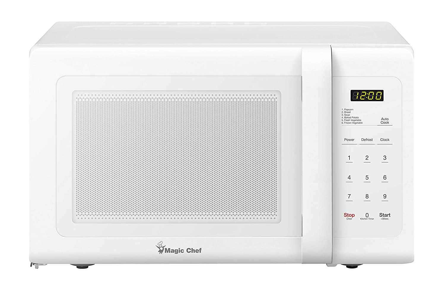 Magic Chef MCD993W 0.9 Cu. Ft. 900W White Countertop Microwave Oven