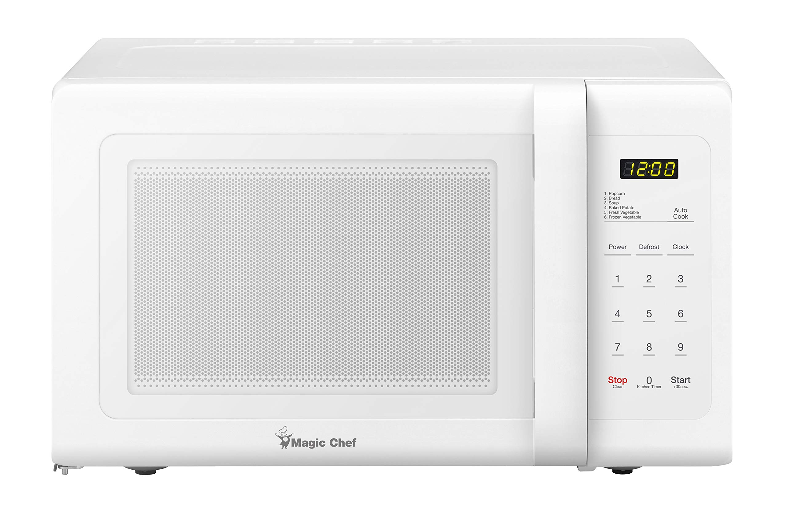 0.9 Cu. Ft. 900W Countertop Microwave Oven in White