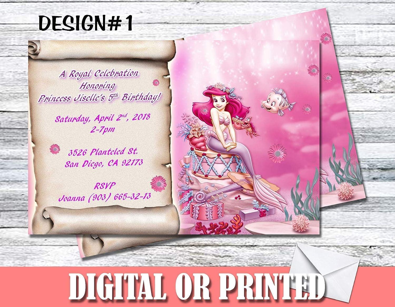 Princess Ariel Personalized Birthday Invitations More Designs Inside!