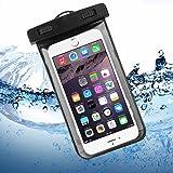 """iPhone 6 / 6S Wasserdichte Hülle, Bingsale Wasserdichte Case Tasche Hülle Beachbag fur iPhone 6S Plus 6S iPhone 6 Plus 6 5S 5 Samsung Galaxy S6 S6 Edge S5 S4 Unterwasser Hülle mit Handy 4,0 - 5,5 """" Zoll (Schwarz)"""