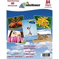 100feuilles de papier photo A4180g/m² Ultrabrillant, étanche