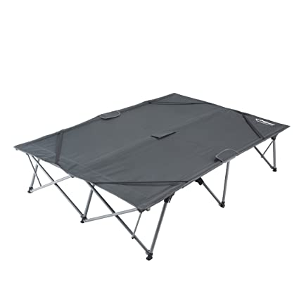 Kingcamp Camping Cot Double 2 Person Oversized Anodized Steel Frame Portable Folding Bed Portable Support