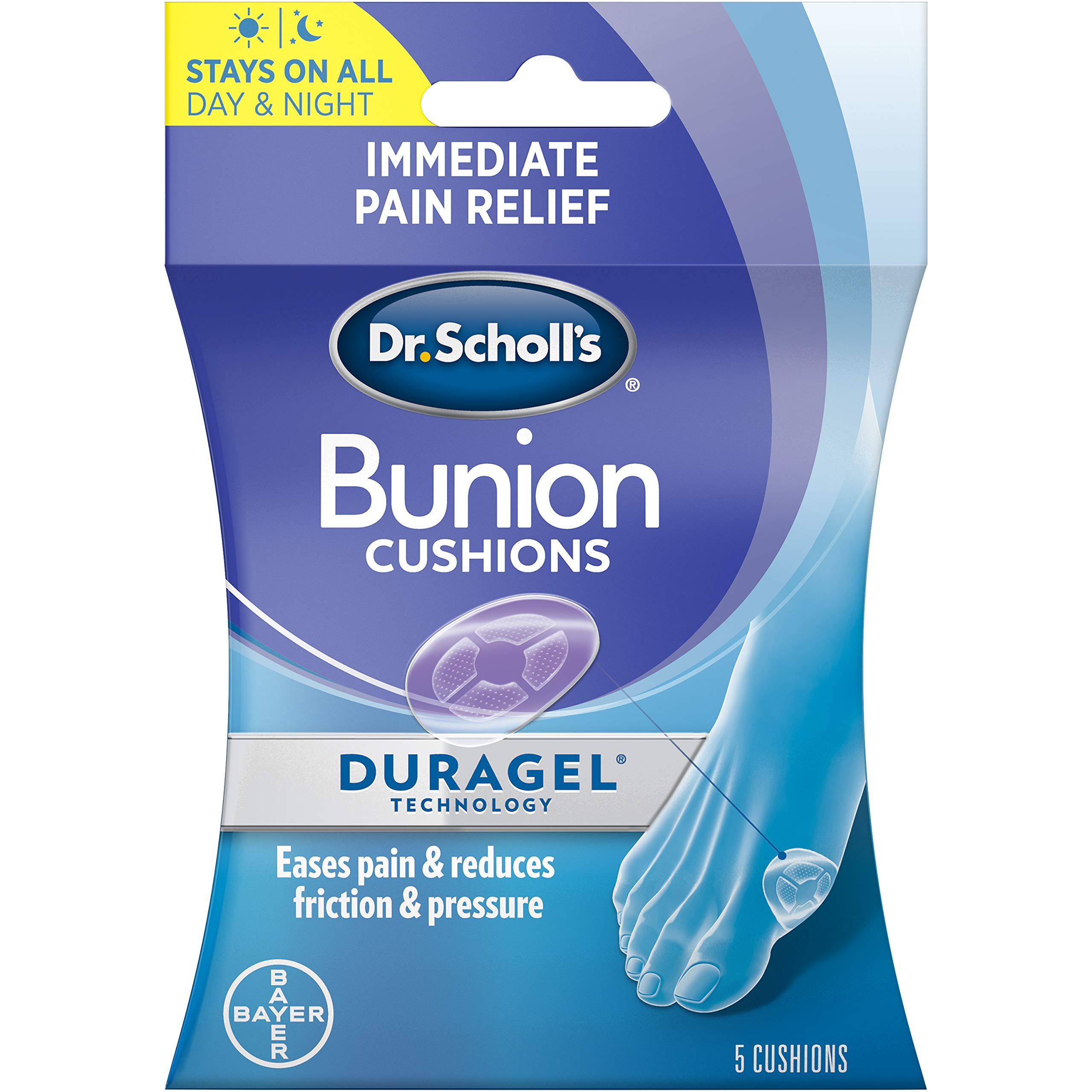 Dr. Scholls BUNION Cushions with Duragel Technology, 5ct (One Size) //