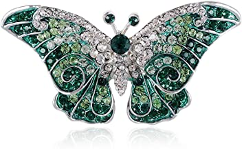 2901b9dc6db Empress Monarch Winged Butterfly Swarovski Crystal Rhinestones Brooch Pin -  Purple