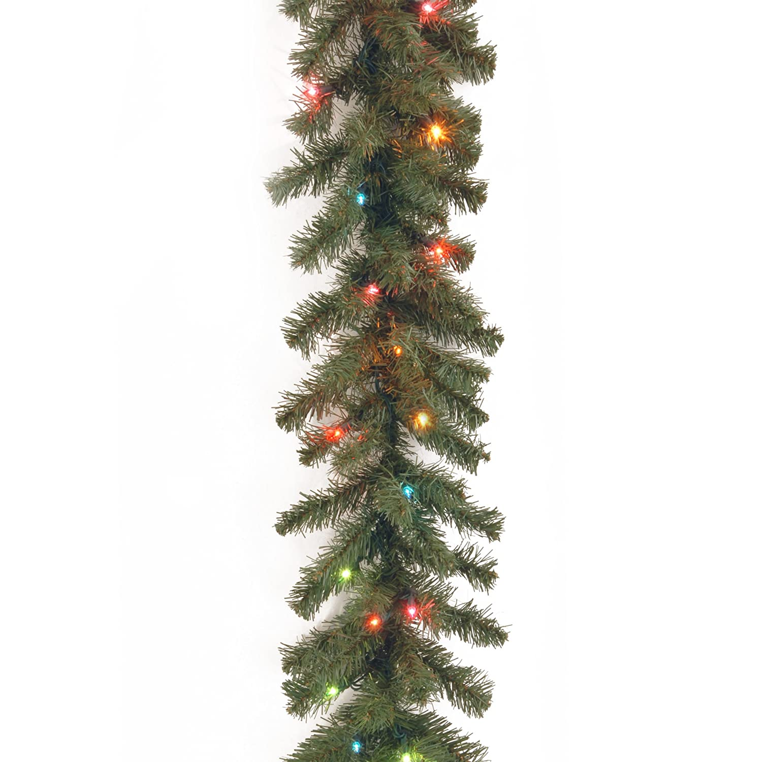 amazoncom national tree 9 foot by 10 inch kincaid spruce garland with 50 lights kcdr9brlo1 home u0026 kitchen