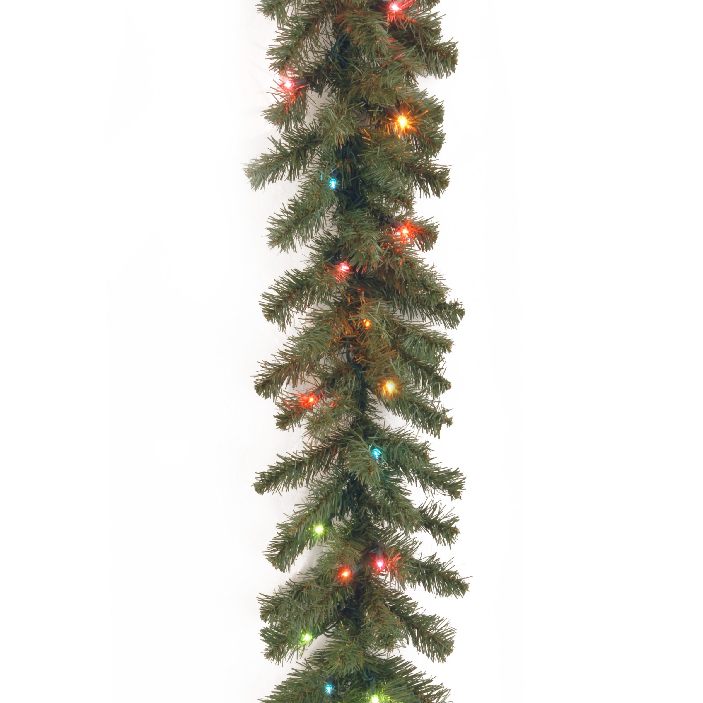 National Tree 9 Foot by 10 Inch Kincaid Spruce Garland with 50 Multicolored Lights (KCDR-9BRLO-1) by National Tree Company (Image #1)
