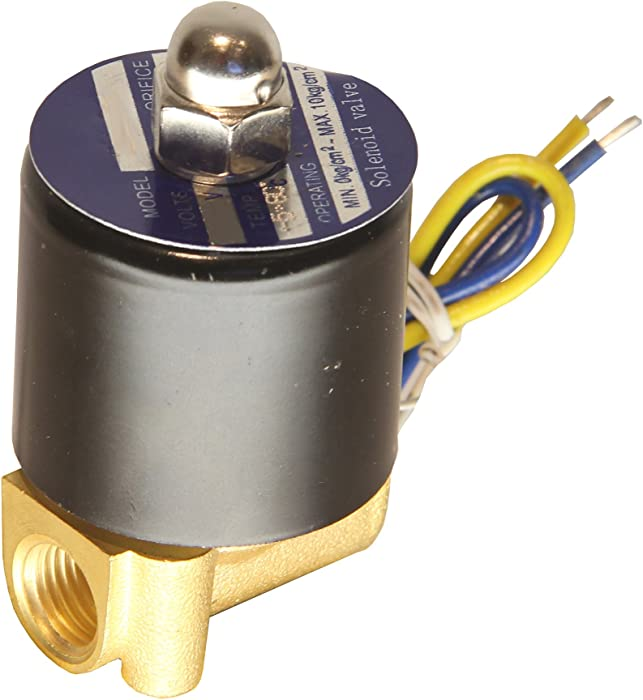 "HFS 110v Ac or 12v Dc Electric Solenoid Valve Water Air Gas, Fuels N/c - 1/4"", 1/2"", 3/4"", 1"" NPT Available (110V AC 1/4"" NPT)"