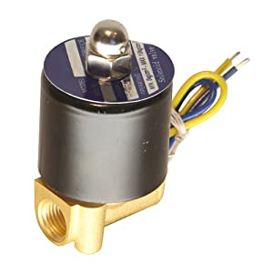 """HFS 110v Ac or 12v Dc Electric Solenoid Valve Water Air Gas, Fuels N/c - 1/4"""", 1/2"""", 3/4"""", 1"""" NPT Available (12V DC 1/4"""" NPT)"""