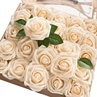 Amazon best sellers best artificial flowers lings moment artificial flowers roses real looking fake roses wstem for diy wedding bouquets mightylinksfo
