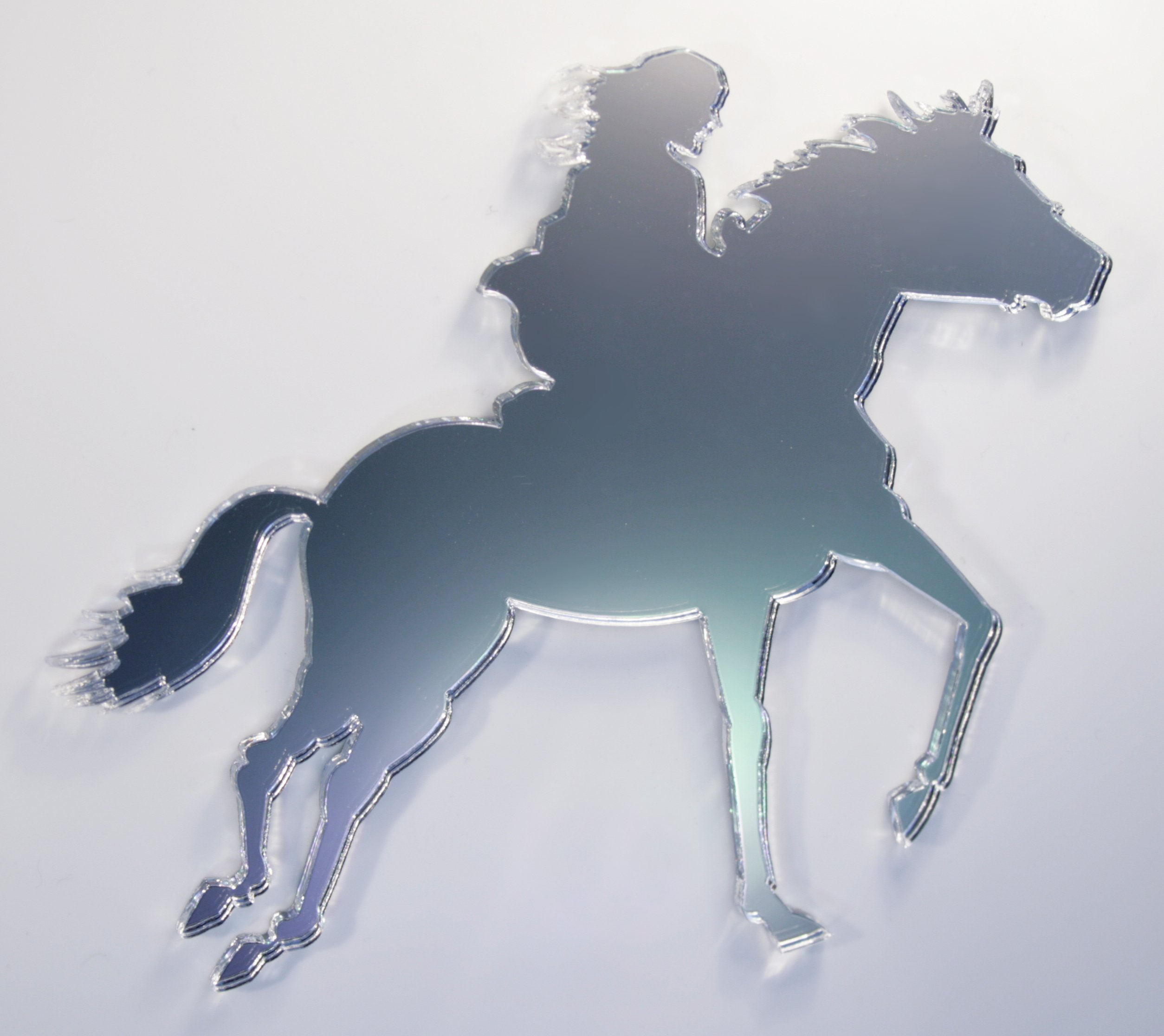 Horse Mirror - Available in various sizes, including sets for crafting kits - 50cm x 40cm