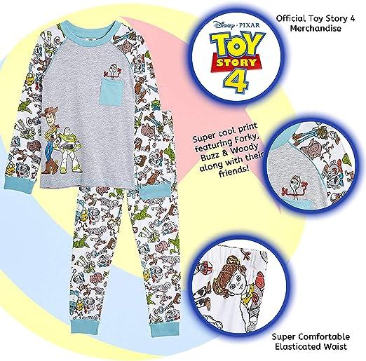 Ragazzi Disney Toy Story Lungo Pigiama Bambini Buzz Woody Rex piena lunghezza Pjs Set Size