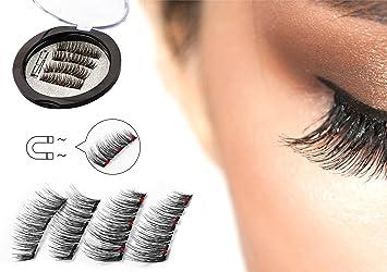2f53de21833 Triple Magnetic Full Size False Eyelashes Extension Set (4 pieces) -  Handmade 3D Fake