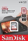 Scheda di Memoria SanDisk Ultra SDHC da 32 GB, fino a 80 MB/sec, Classe 10 FFP