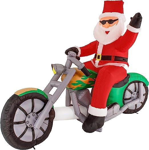 Amazon.com: Navidad Masters 6 pies hinchable Santa Claus ...